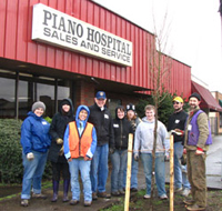 Tree Planted at Piano Hospital