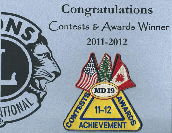 Achievement Award 2011-2012